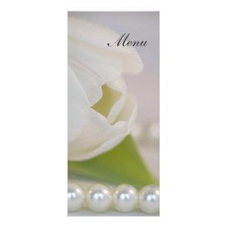 White Tulip and Pearls Spring Wedding Menu