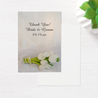 White Tulip Bouquet Spring Wedding Favor Tags