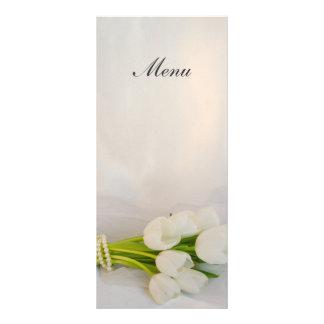 White Tulip Bouquet Spring Wedding Menu