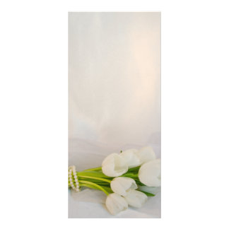 White Tulip Bouquet Spring Wedding Program