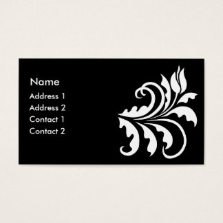 white tulip business card