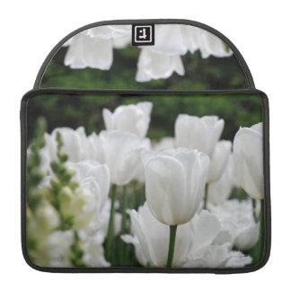 white tulip garden sleeve for MacBook pro