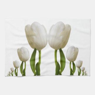 White Tulip Kitchen Towel