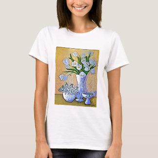 White Tulip Painting T-Shirt