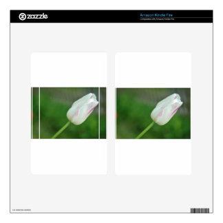White Tulip Kindle Fire Skins