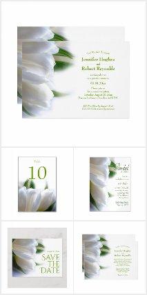 White Tulip Wedding Collection