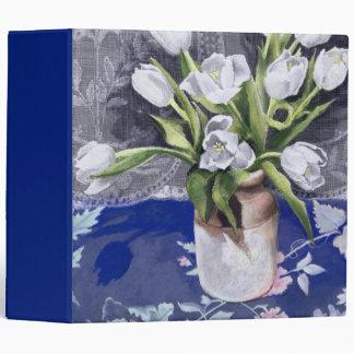 White Tulips 1994 3 Ring Binder