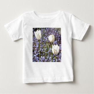 White Tulips Baby T-Shirt