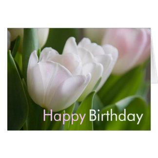 White Tulips • Birthday Greeting Card