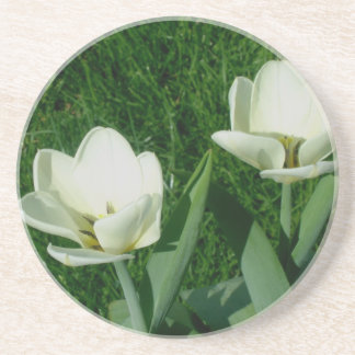 White Tulips Coaster