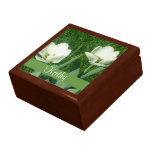 White Tulips Flower Gift Box