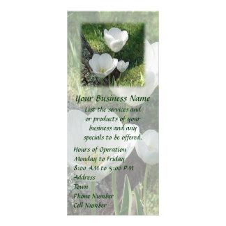 White Tulips Flower Trio Rack Card