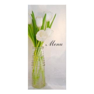 White Tulips in Bottle Wedding Menu