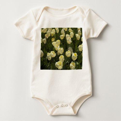 White Tulips in the Boston Gardens Baby Bodysuit
