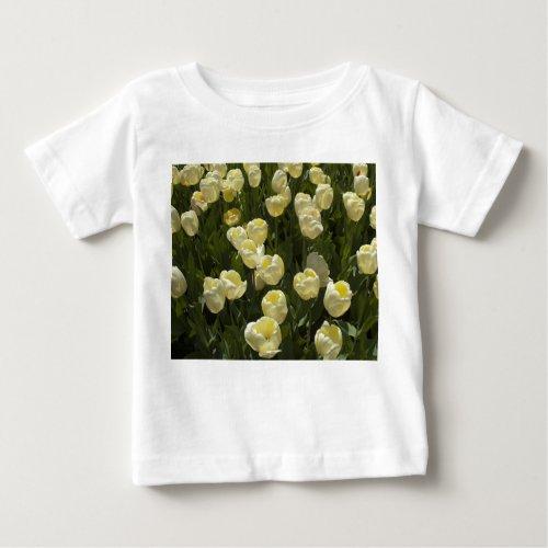 White Tulips in the Boston Gardens Baby T-Shirt