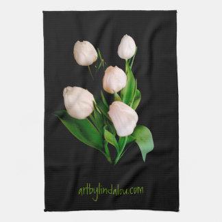 White Tulips MoJo Kitchen Towel