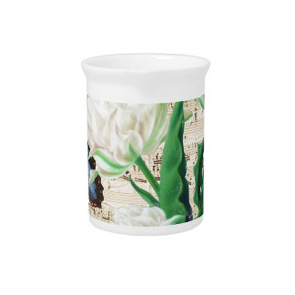 White Tulips Morpho Drink Pitchers