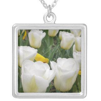 White Tulips Custom Necklace