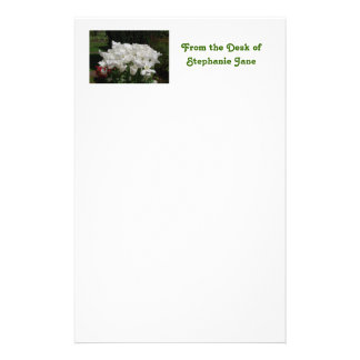 White Tulips Personalized Stationery