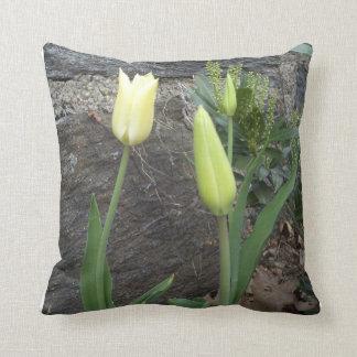 White Tulips Throw Pillow