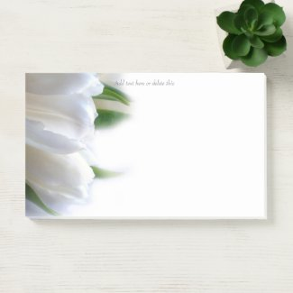 White Tulips Post-it Notes