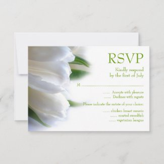 White Tulips RSVP Card