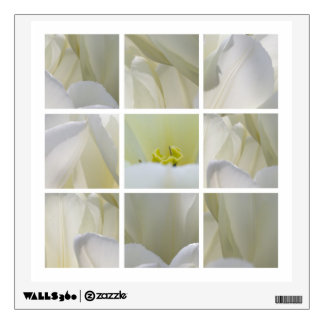 White Tulips Wall Decal