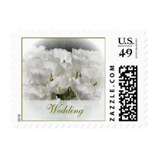 White Tulips Wedding Postage