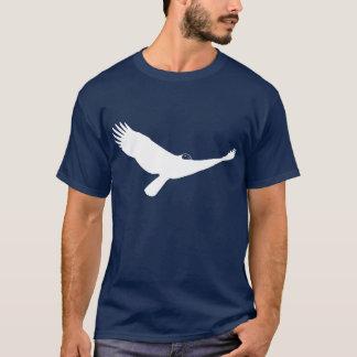 White Turkey Vulture Bird of Prey In Flight T-Shirt