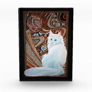 White Turkish Angora Acrylic Award