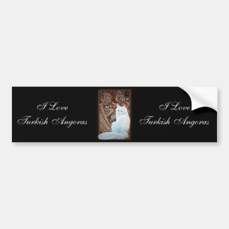 White Turkish Angora Bumper Sticker