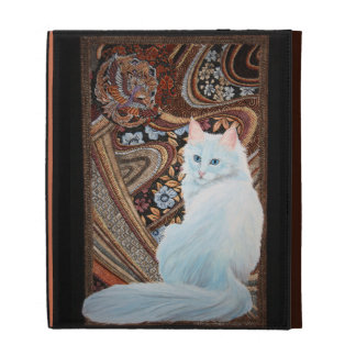 White Turkish Angora iPad Folio Case