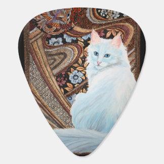 White Turkish Angora Guitar Pick