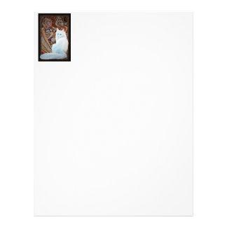 White Turkish Angora Letterhead