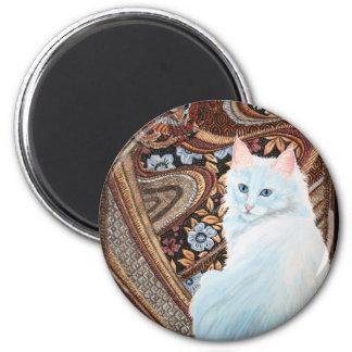 White Turkish Angora Magnet