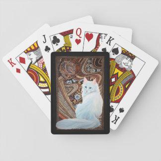 White Turkish Angora Card Deck