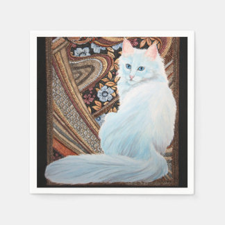 White Turkish Angora Paper Napkin