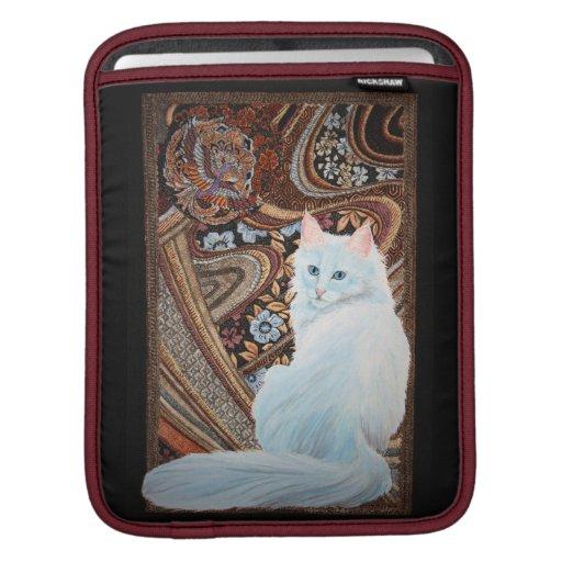 White Turkish Angora Sleeves For iPads