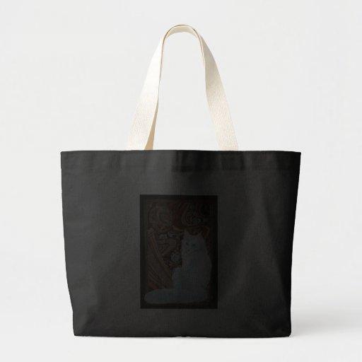 White Turkish Angora Tote Bag