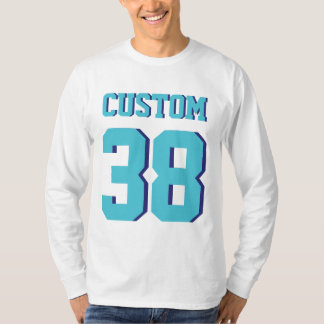 White & Turquoise Adults | Sports Football Jersey T-Shirt