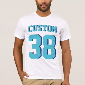 White & Turquoise Adults | Sports Jersey Design T-Shirt