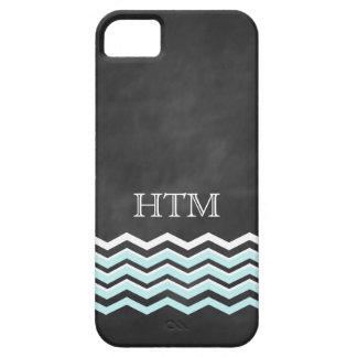White & Turquoise Chevron iPhone 5 Case