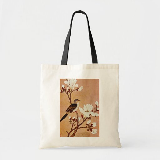 white Turtledove on Flowering Branch, Chiang T'ing Budget Tote Bag