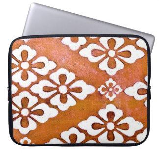 White Twill Weave Print 1825 Laptop Sleeves
