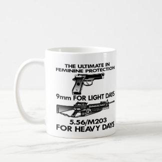 White Ultimate Feminine Protection Coffee Mug
