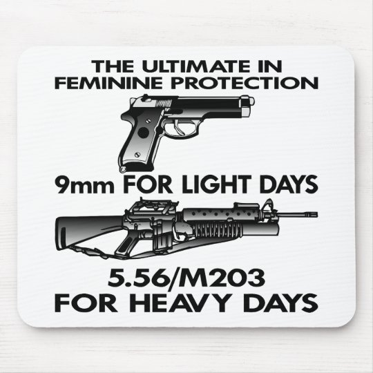 White Ultimate Feminine Protection Mouse Pad