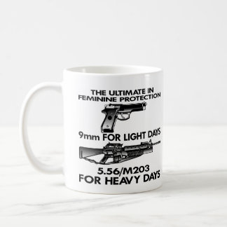 White Ultimate Feminine Protection Classic White Coffee Mug
