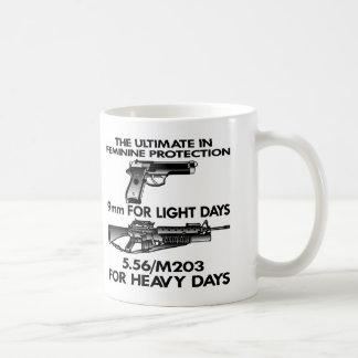 White Ultimate Feminine Protection Coffee Mugs
