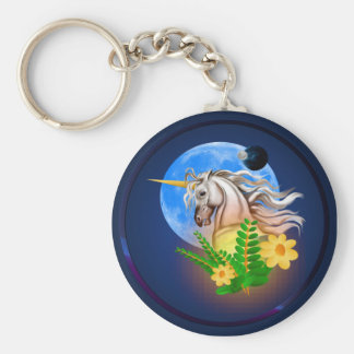White Unicorn, Alien World Keychain
