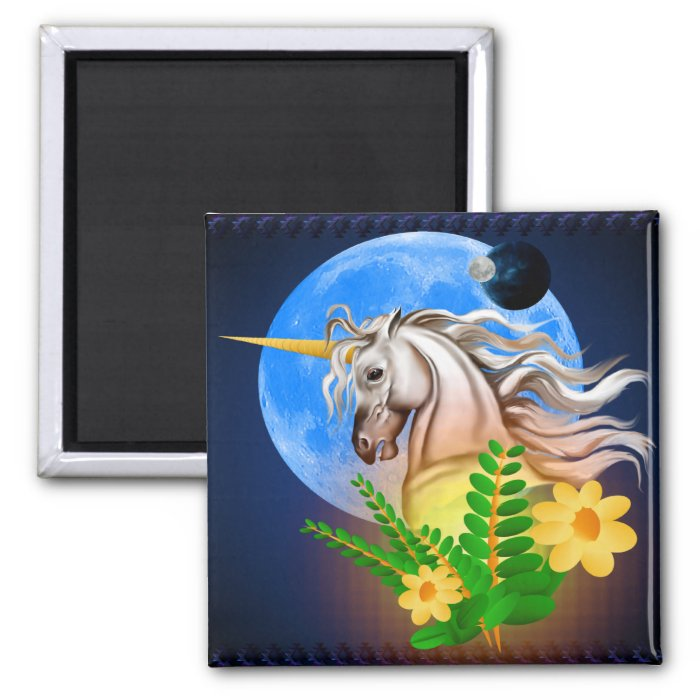 White Unicorn, Alien World Magnet